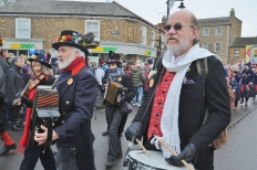 Straw Bear Festival at Whittlesey 2019 with Morris Dancing in Market Street